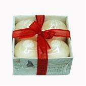Hộp quà 4 nến thơm mùi Vanilla,